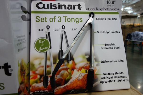 Cuisinart 3-Pack Stainless Steel Tongs Costco