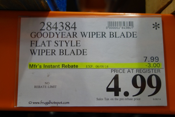 Goodyear Assurance Wiper Blade Costco Price
