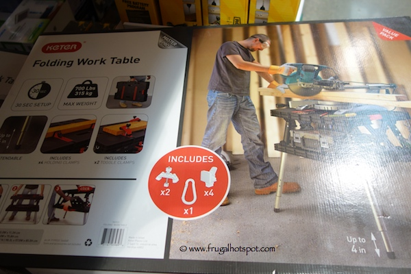 Keter Work Table With Extendable Legs Costco