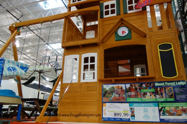 Costco Deal Cedar Summit Wood Play Center Mount Forest