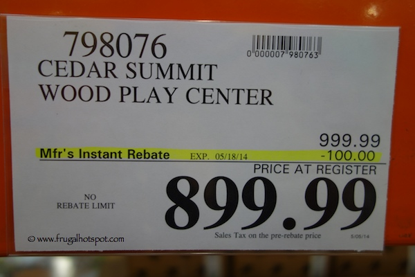 Cedar Summit Wood Play Center Mount Forest Lodge Costco Price
