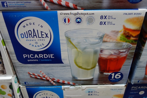 Duralex Picardie 16 Piece Tumbler Glass Set Costco