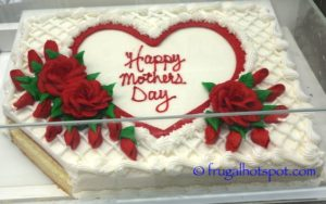 Costco Sheet Cake Mother's Day