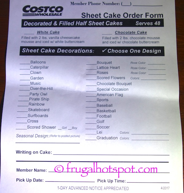 Half Sheet Cake Costco