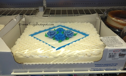 Costco White Sheet Cake with Flowers