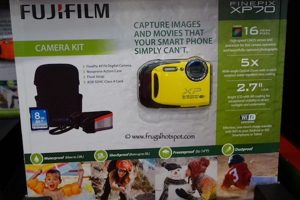 Fujifilm Finepix XP70 Waterproof Digital Camera Costco