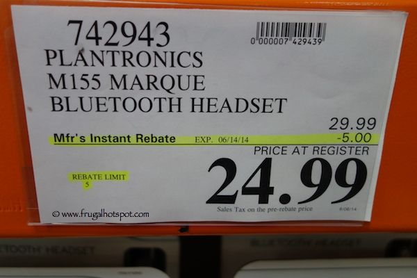 Plantronics Marque M155 Bluetooth Headset Costco Price