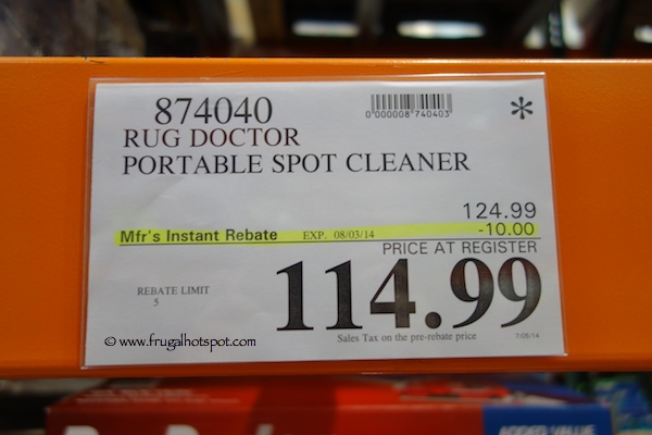 Rug Doctor Portable Spot Cleaner Costco Price