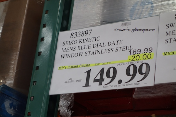 costco seiko kinetic mens blue dial stainless steel watch seiko kinetic mens blue dial stainless steel watch costco price