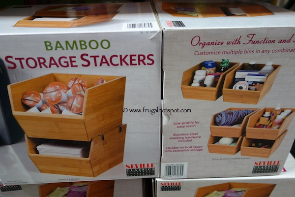 Seville Classics 2 Piece Bamboo Storage Stackers Costco