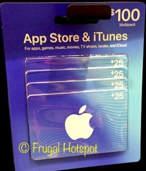iTunes Gift Cards $100 Multi-Pack at Costco