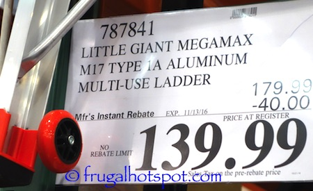 Little Giant MegaMax 17' Ladder Costco Price \ Frugal Hotspot