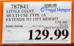 Costco Sale Price: Little Giant MegaMax M17 Ladder