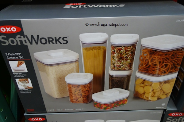 costco clearance oxo softworks 8 piece pop container set frugal hotspot. Black Bedroom Furniture Sets. Home Design Ideas
