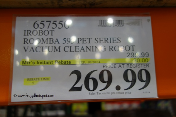 iRobot Roomba 595 Pet Series Vacuum Cleaning Robot Costco Price