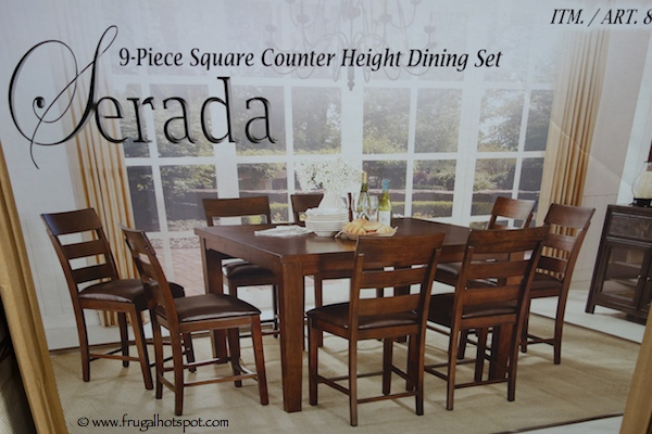 Universal Furniture Serada 9 Piece Square Counter Height Dining Set Costco