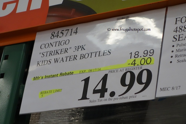 Contigo Autospout Kids Striker Water Bottles 3-Pack Costco Price