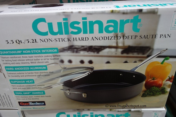 Cuisinart 5.5 Qt Non-Stick Hard Anodized Deep Saute Pan Costco
