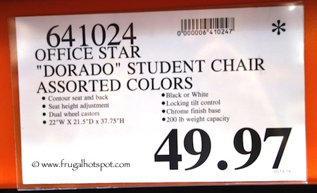 "Office Star Ave Six ""Dorado"" Office Chair Costco Price"