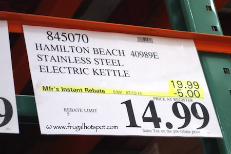Hamilton Beach Stainless Steel Electric Kettle Costco Price