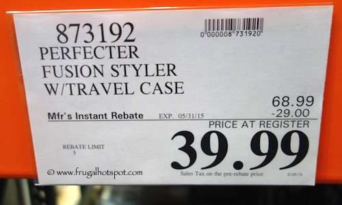 Perfecter Fusion Styler with Travel Case Costco Price