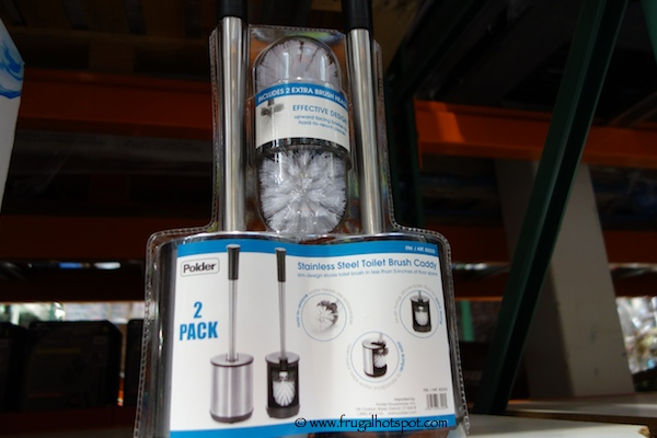 Polder Stainless Steel Toilet Brush Caddy 2-Pack Costco