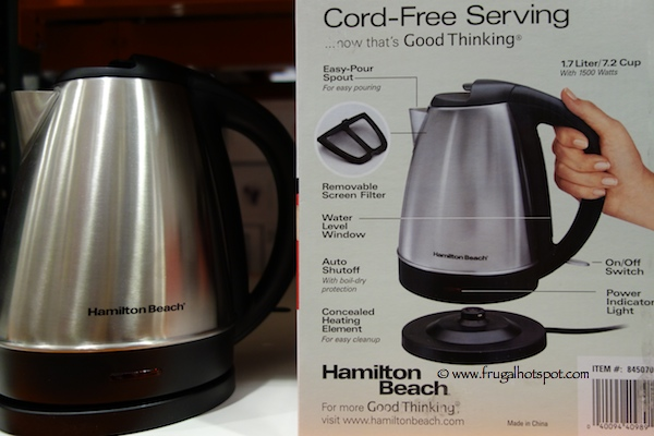 Hamilton Beach Stainless Steel Electric Kettle Costco