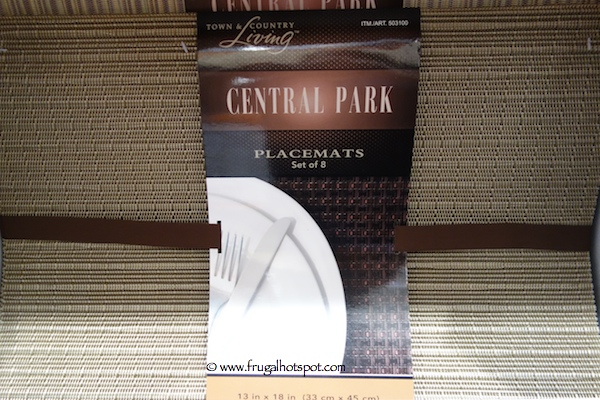 Town and Country Living Central Park Placemat Set Costco