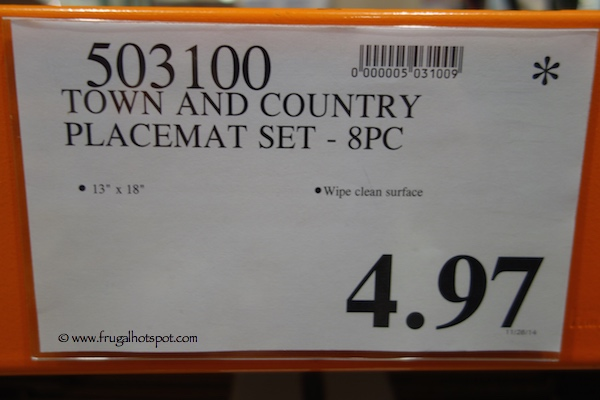 Town and Country Placemat Set 8 Piece Costco Price