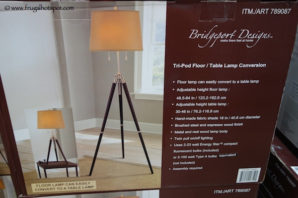 Bridgeport Designs Tri-Pod Lamp Costco
