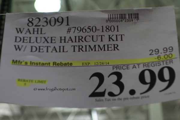 Wahl Deluxe Haircut Kit with Detail Trimmer Costco Price