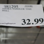 Adora Toddler Time Doll Costco Price