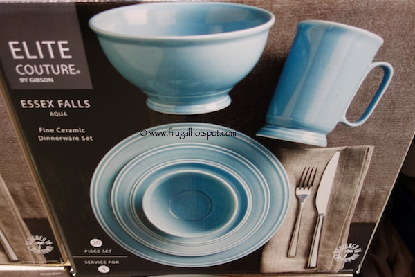 Elite Couture by Gibson Essex Falls 20 Piece Dinnerware Set Costco
