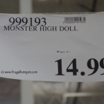 Monster High Doll Costco Price