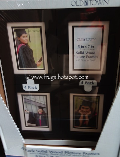 old town 5 x 7 solid wood picture frames 4 pack black costco