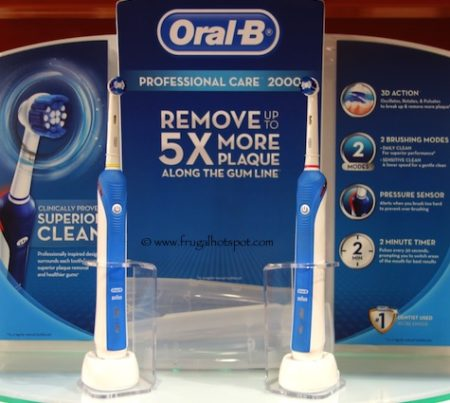 Oral-B Pro Care 2000 Dual Handle Rechargeable Toothbrushes at Costco