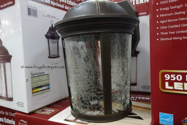 Altair Lighting Outdoor LED Lantern with Optional Arm Kit Costco - Costco Sale: Altair Lighting Outdoor LED Lantern $29.99 Frugal