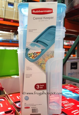 Rubbermaid Cereal Container 3-Pack Costco