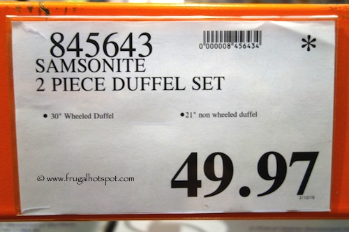 Samsonite 2 Piece Duffet Set Costco Price