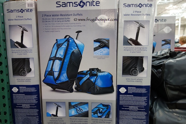 Samsonite 2 Piece Water-Resistant Duffel Set Costco