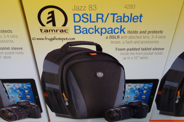 Tamrac Jazz 83 Padded DSLR / Tablet Backpack Costco