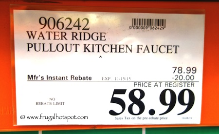 WaterRidge Pull-Out Kitchen Faucet Costco Price