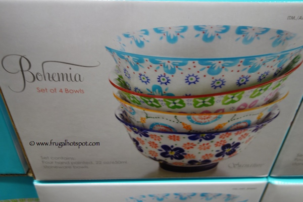 Bohemia Hand Painted Bowls Set of 4 Costco