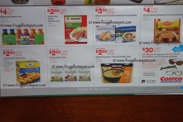 Page 15. Costco Coupon Book: 10/30/14 - 11/23/14.