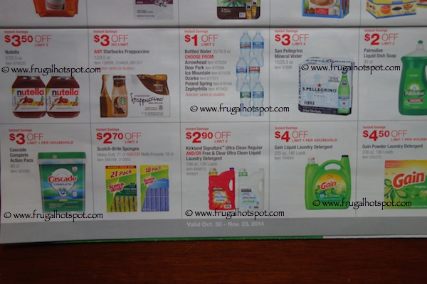 Costco Coupon Book : October 30, 2014 - November 23, 2014. Page 13. Frugal Hotspot