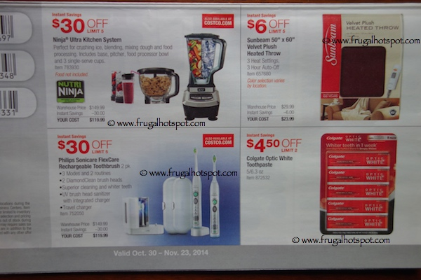 Costco Coupon Book : October 30, 2014 - November 23, 2014. Pages 3. Frugal Hotspot
