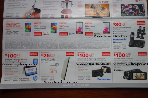 Costco Coupon Book : October 30, 2014 - November 23, 2014. Page 5. Frugal Hotspot.