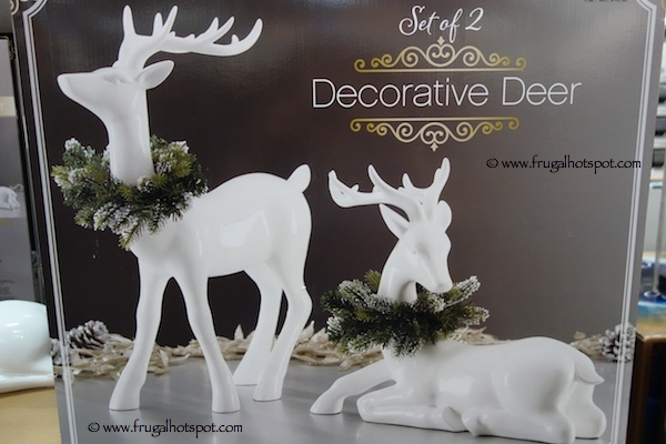 set of 2 decorative deer costco
