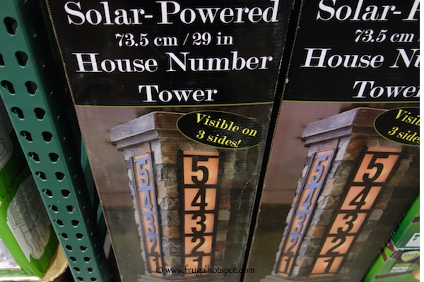 Solar-Powered House Number Tower Costco