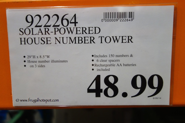 Solar Powered House Number Tower Costco Price